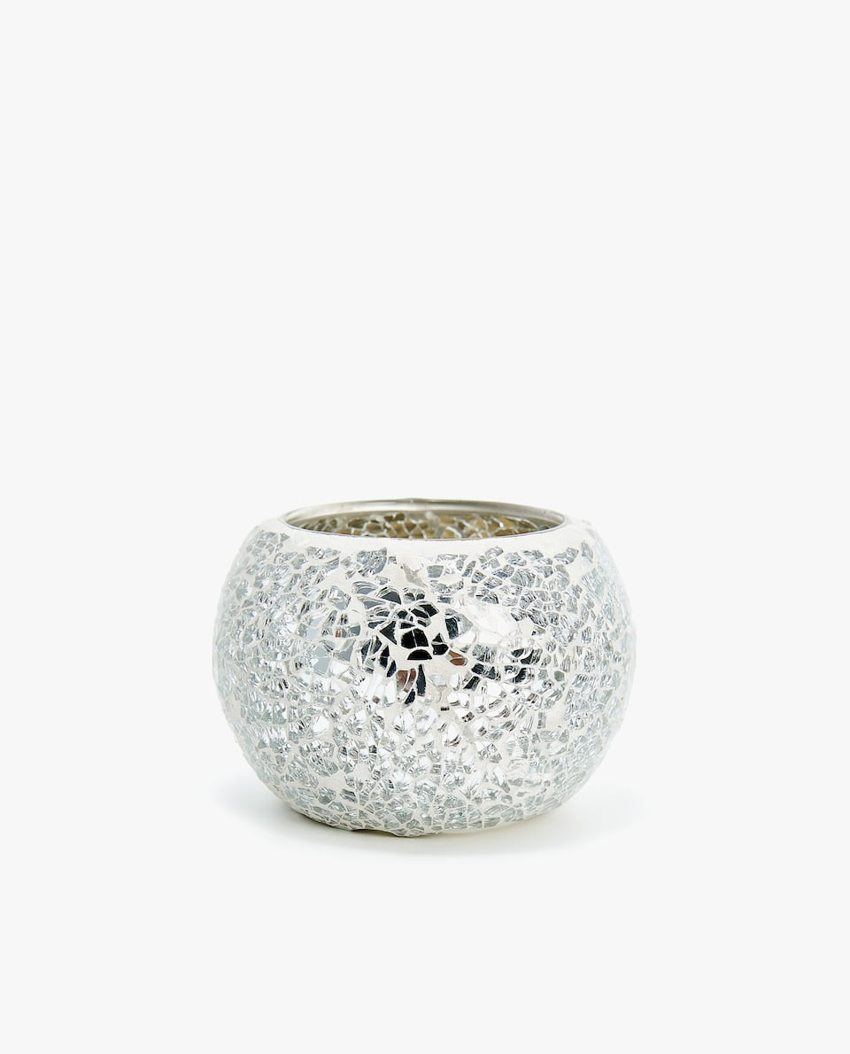 CRACKLED TEALIGHT HOLDER