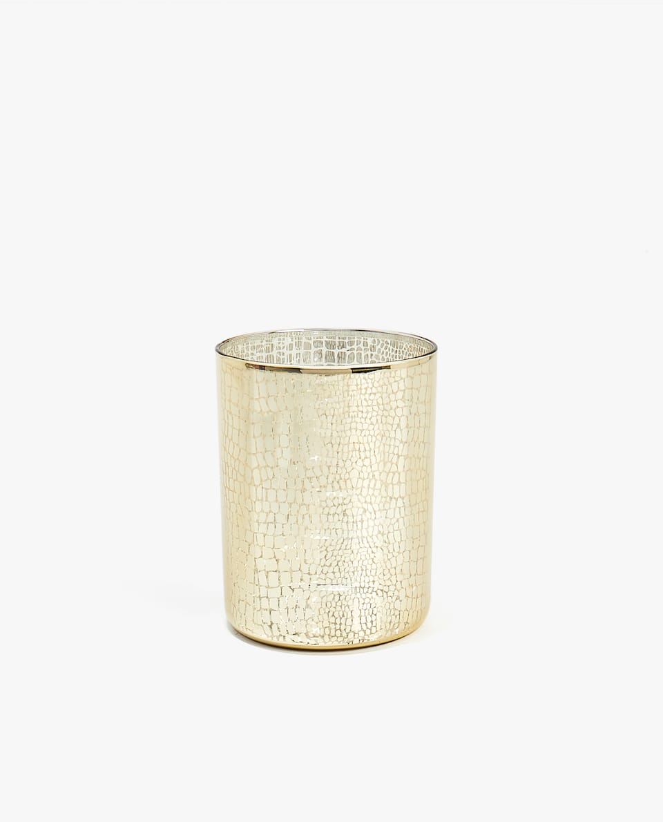 GOLD BASE TEALIGHT HOLDER