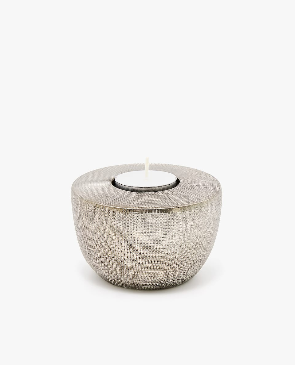 SCORED TEXTURE TEALIGHT HOLDER