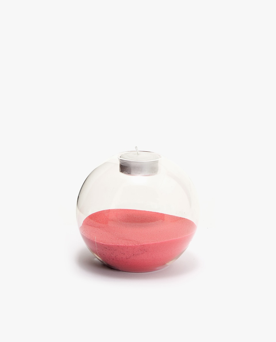 SAND-FILLED TEALIGHT HOLDER