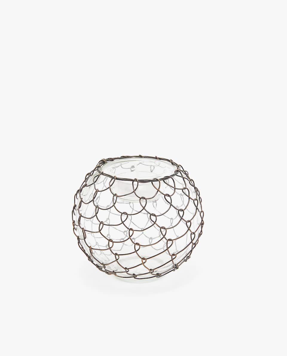 METAL WIRE TEALIGHT HOLDER