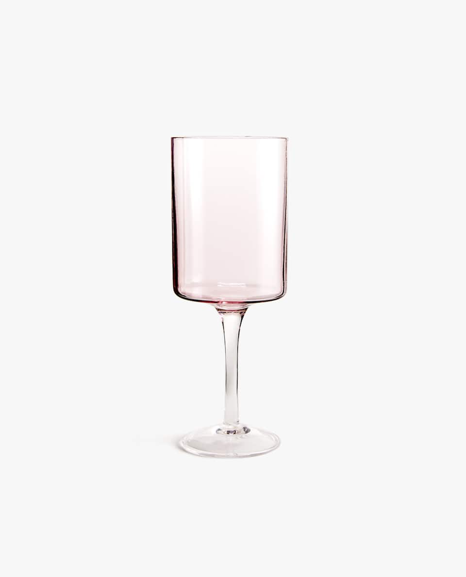 SQUARE TINTED WINE GLASS