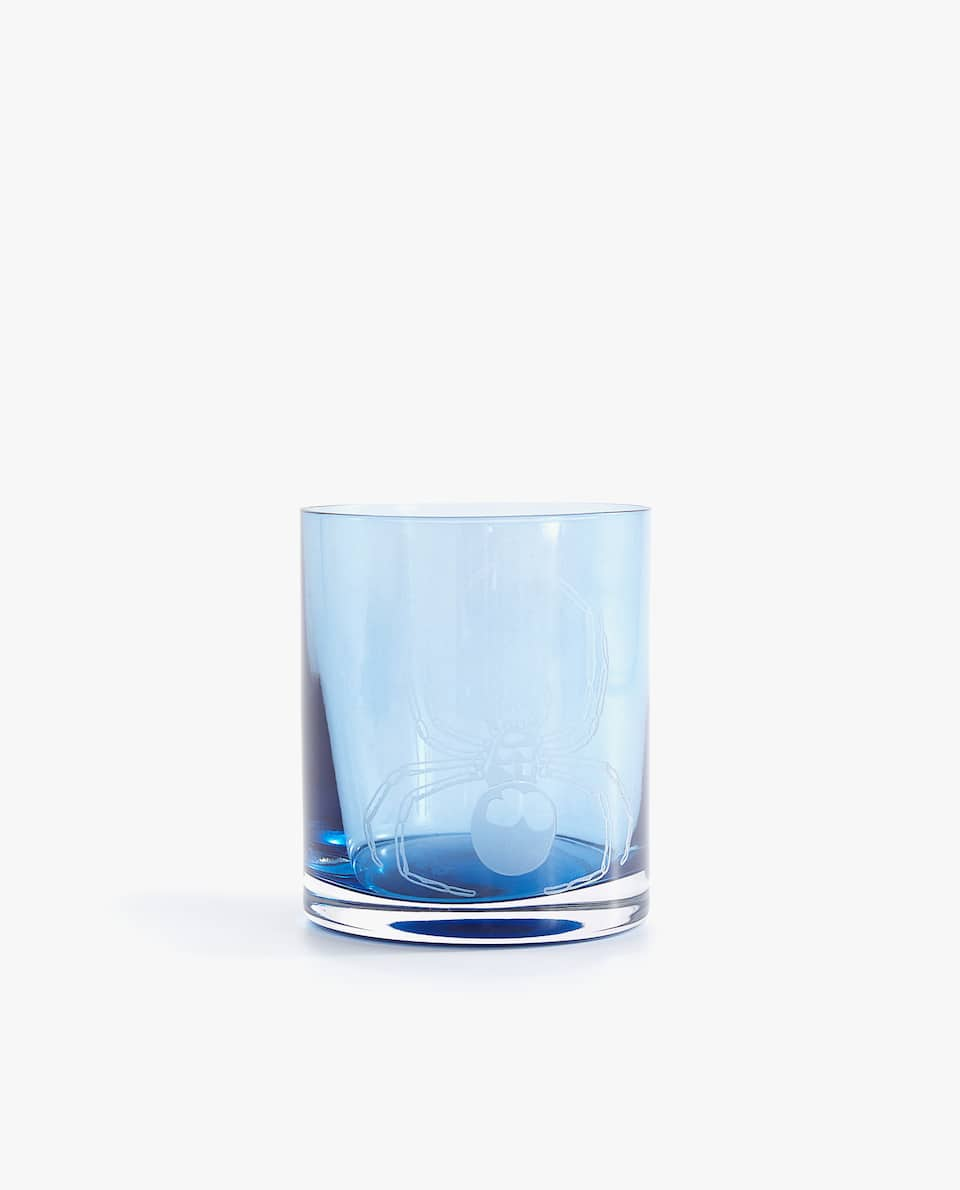 BLUE TUMBLER WITH SNAKE TRANSFER