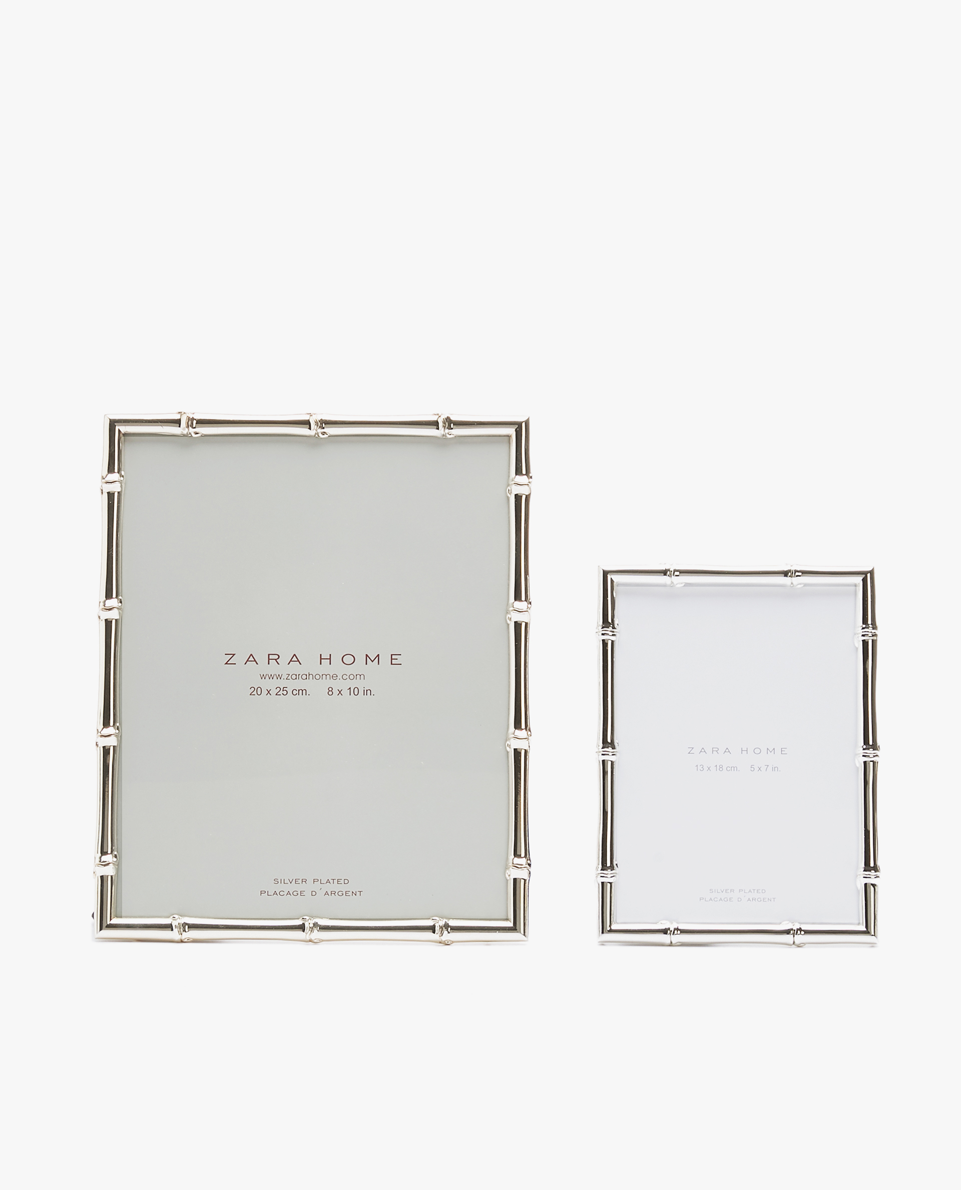 81688413797b BAMBOO-SHAPED SILVER METAL FRAME - See all - PHOTO FRAMES ...