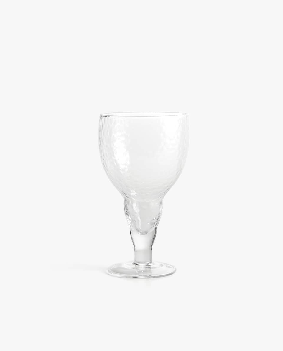 HAMMERED-EFFECT WINE GLASS