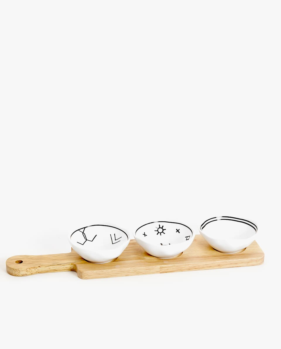 TRAY AND MINI BOWLS SET