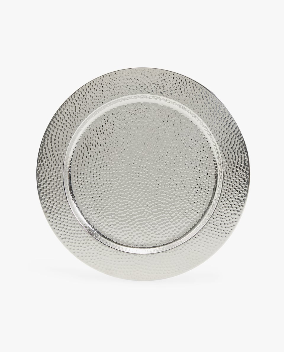 HAMMERED EFFECT CHARGER PLATE