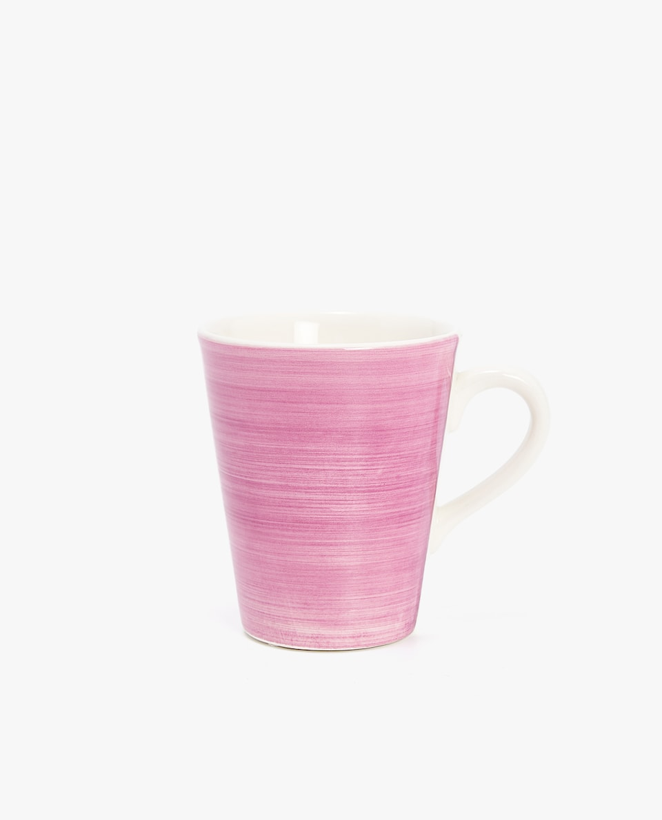 EARTHENWARE MUG WITH SPIRAL DESIGN