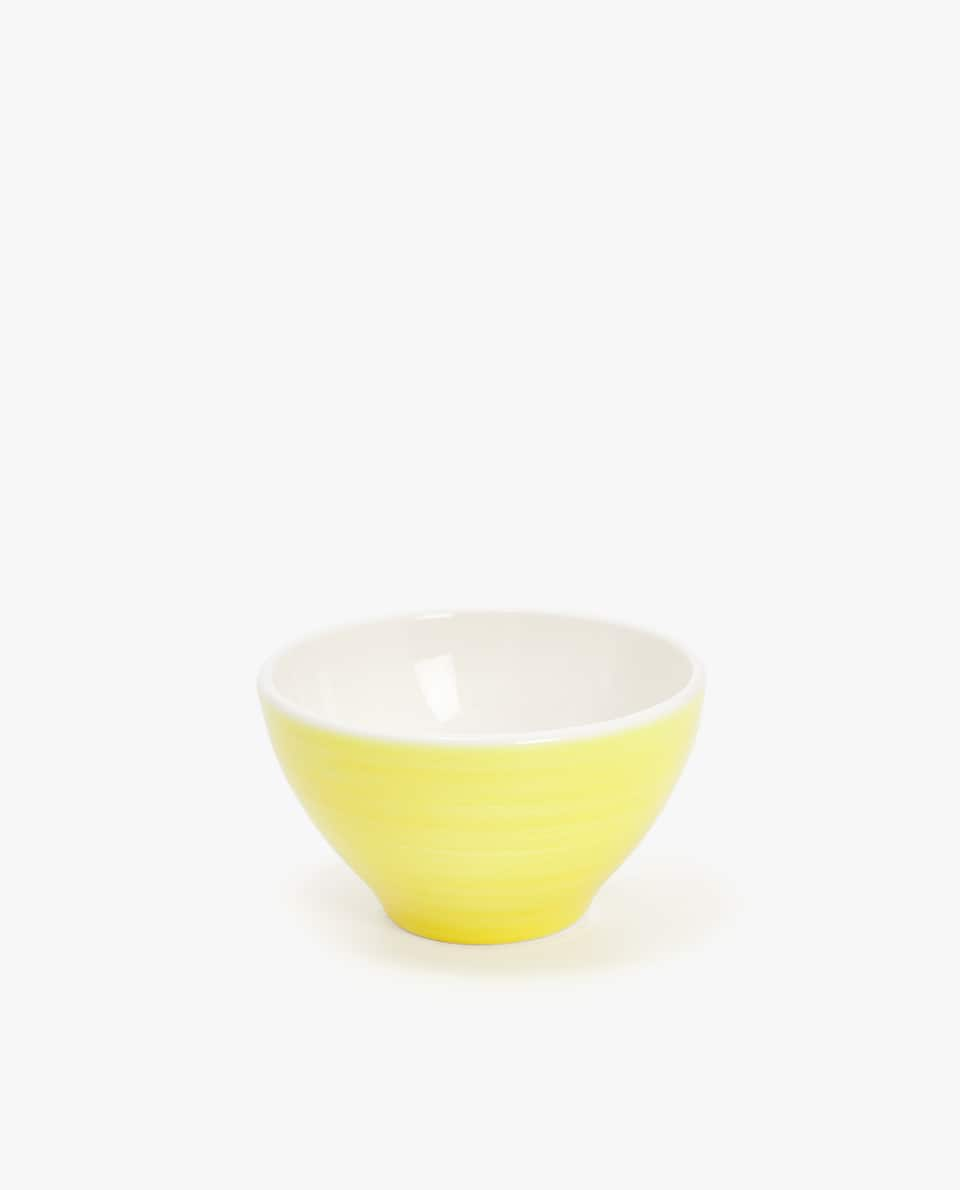 EARTHENWARE MINI BOWL WITH SPIRAL DESIGN