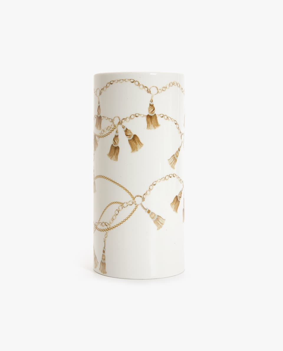 CHAIN TRANSFER PORCELAIN VASE
