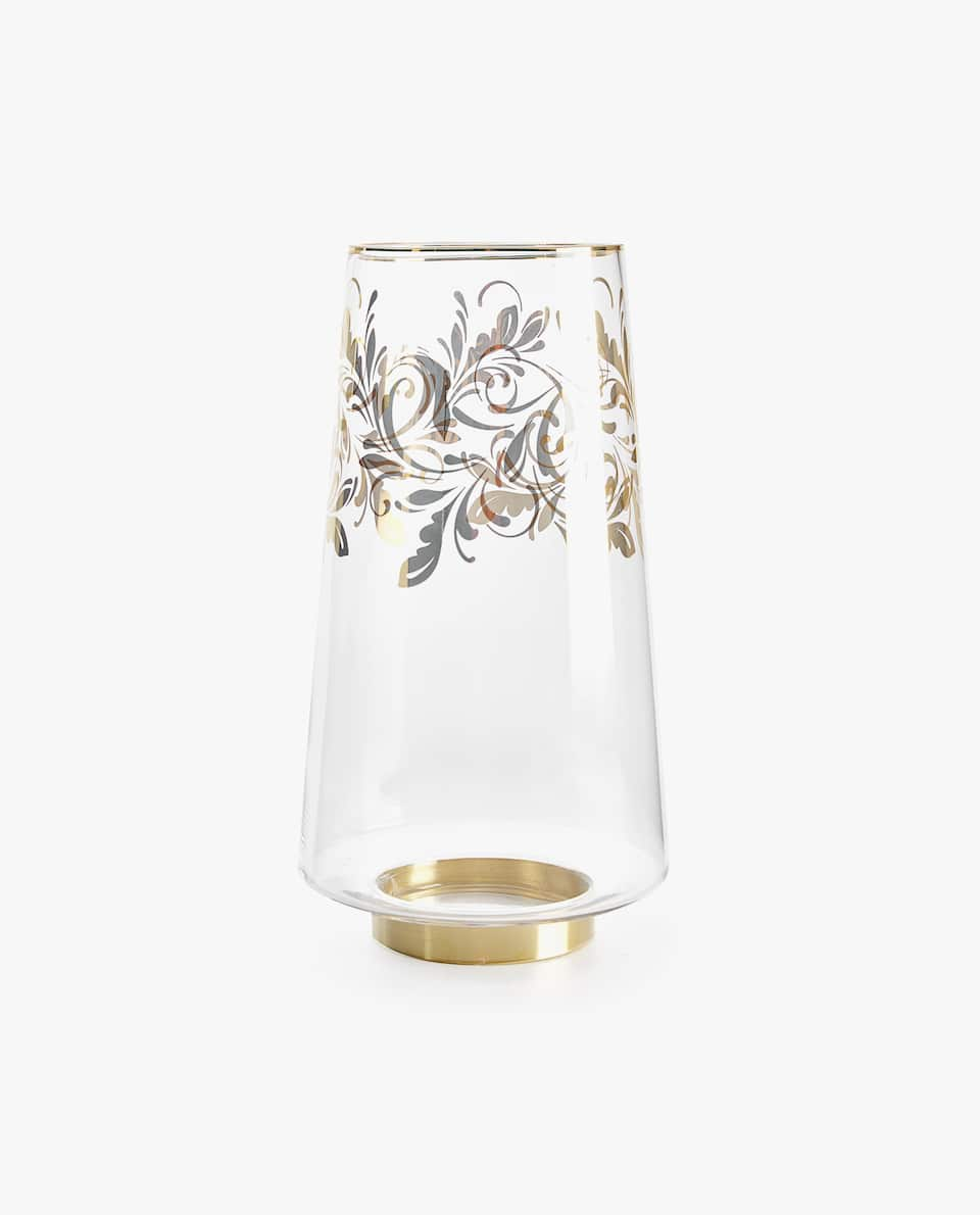DAMASK GLASS VASE