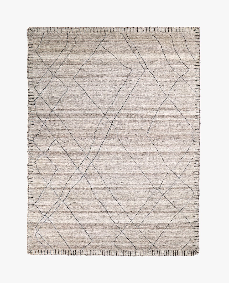 OVERLOCKED WOOL RUG