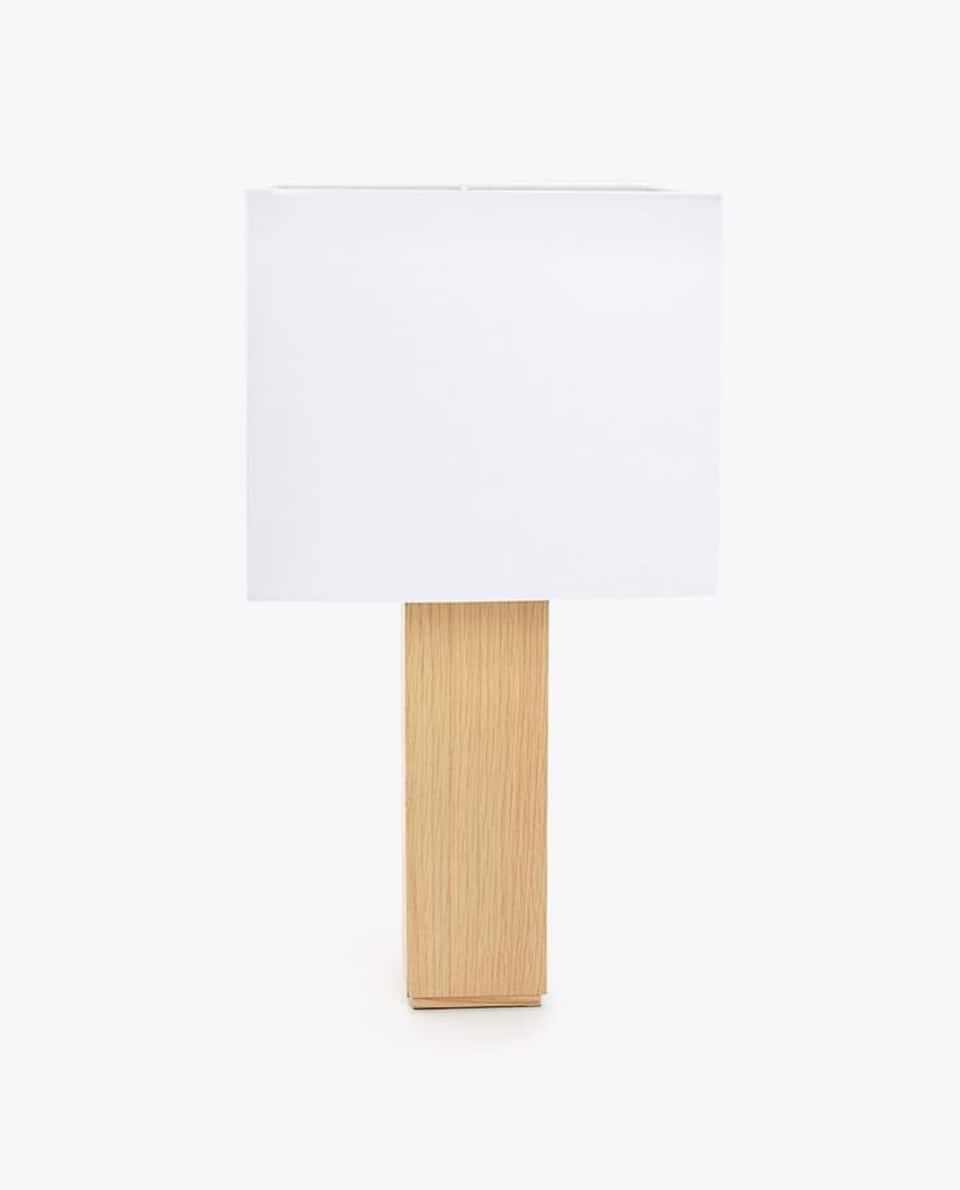 LAMPADA LEGNO PARALUME QUADRATO