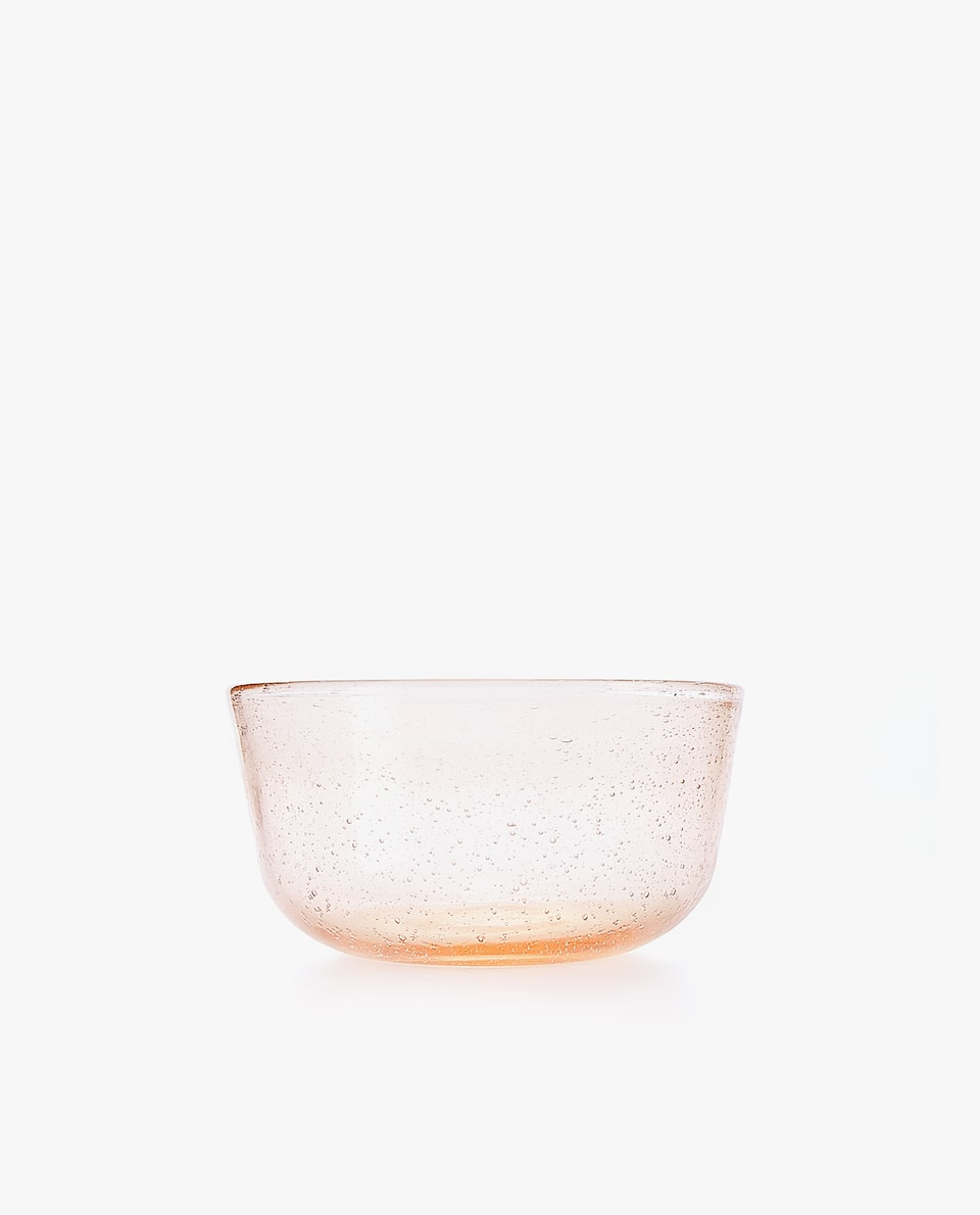 BUBBLE-EFFECT MINI GLASS BOWL
