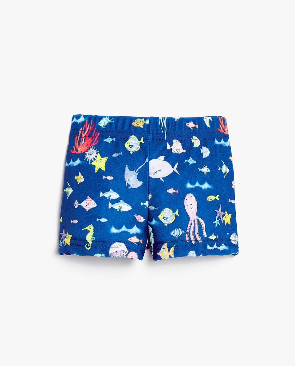 SEABED PRINT SWIMMING TRUNKS