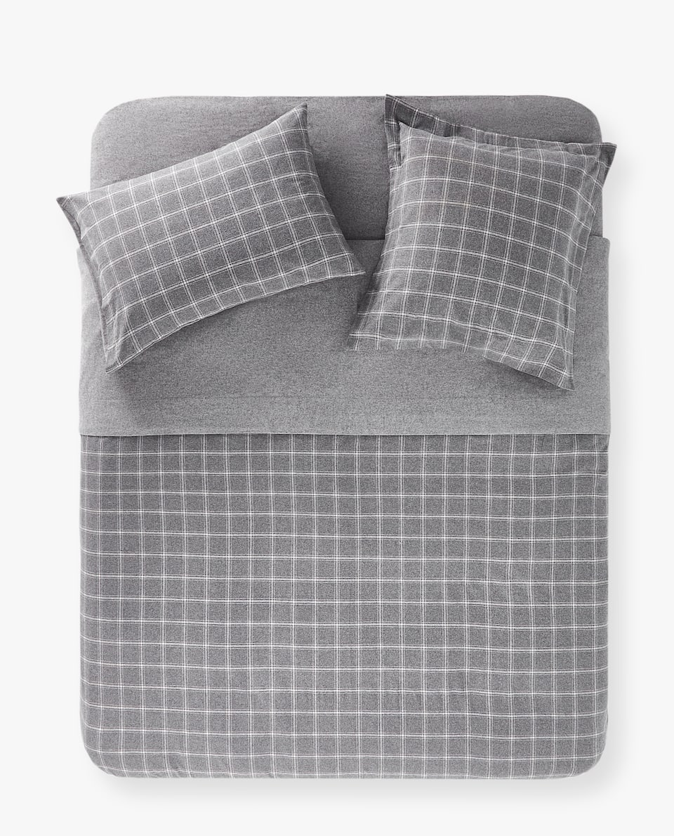 FLANNEL CHECKED DUVET COVER