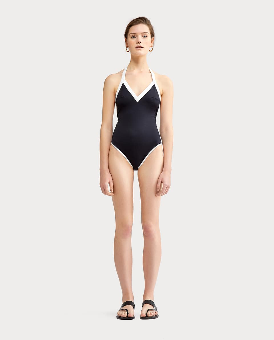 TWO-TONE SWIMSUIT