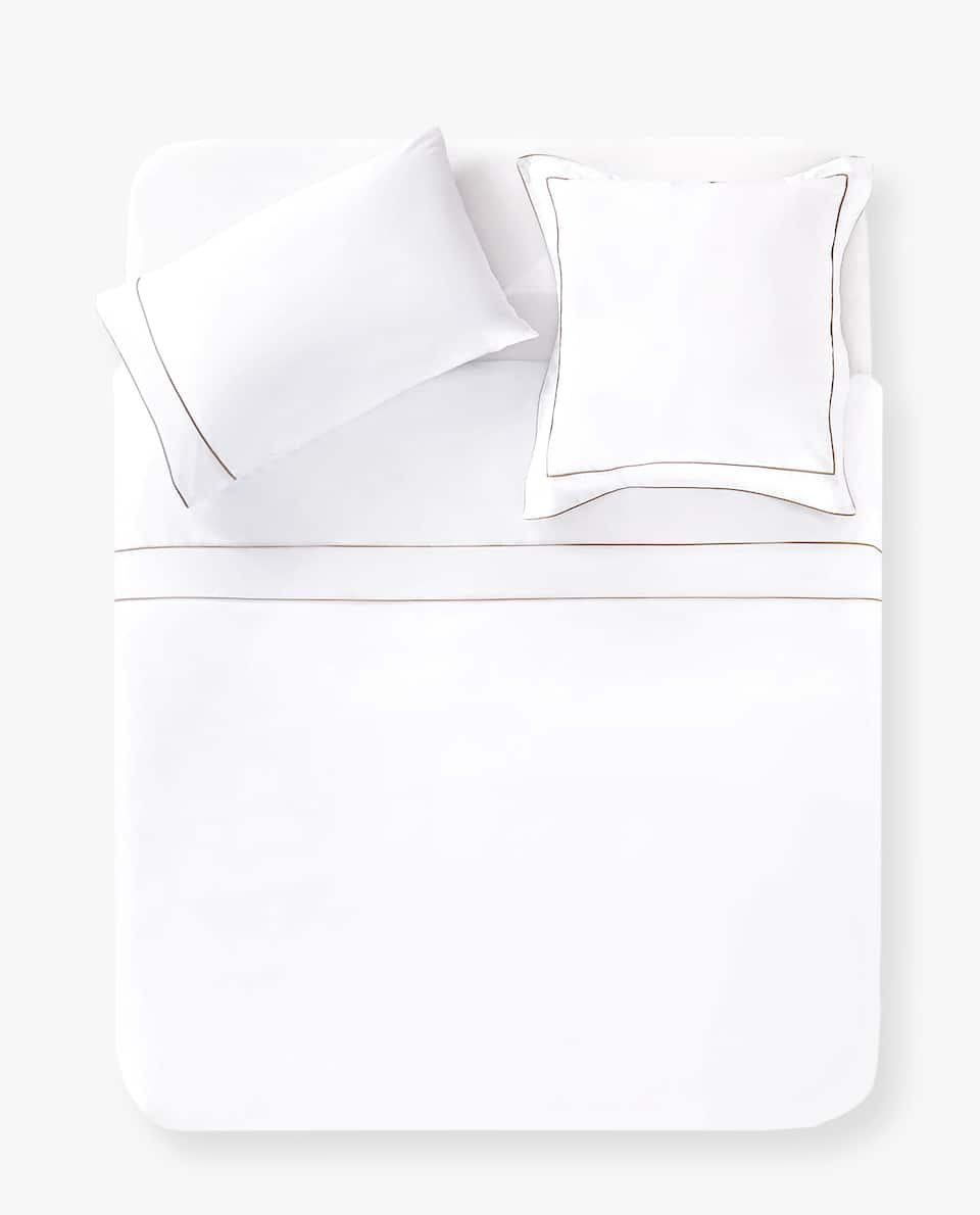 DUVET COVER WITH CONTRAST PIPING