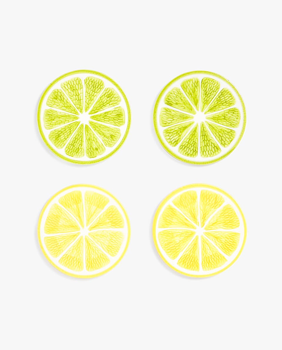 LEMON HALF COASTER (PACK OF 4)