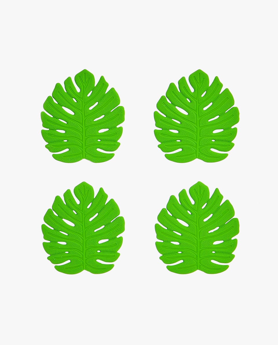 LEAF-SHAPED COASTER (PACK OF 4)