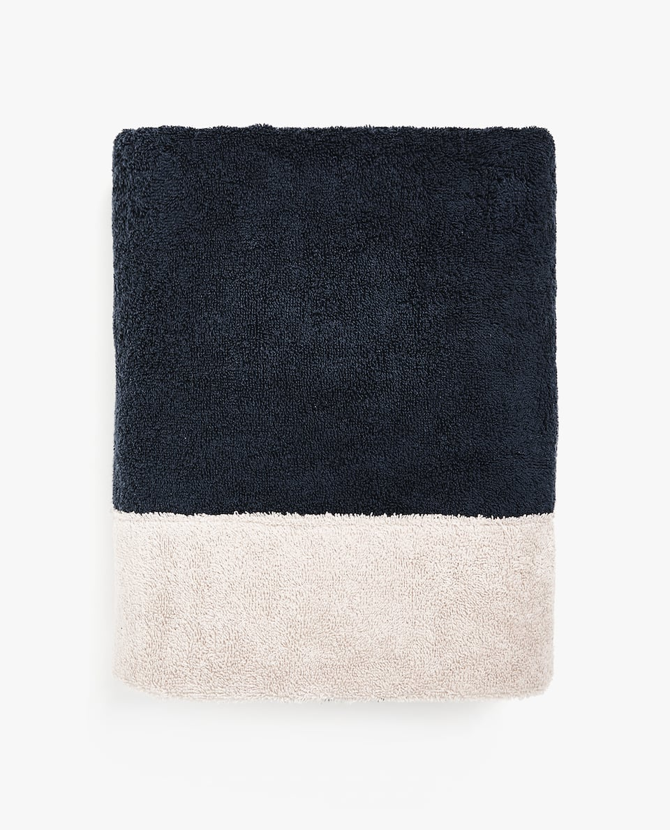 TWO-TONE COTTON TOWEL
