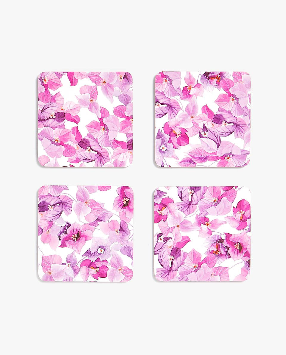 BOUGAINVILLEA PRINT COASTER (PACK OF 4)
