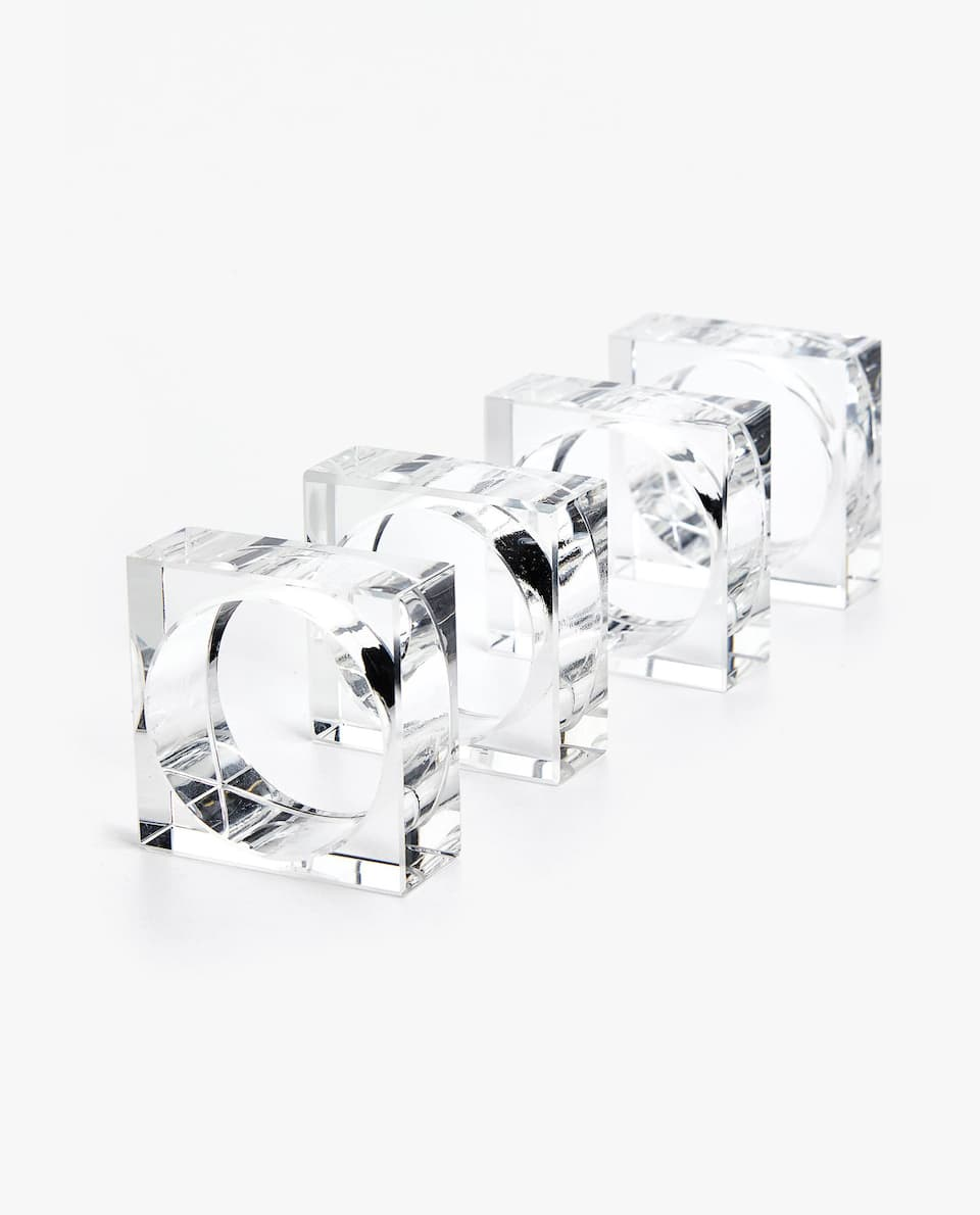 GLASS NAPKIN RING (PACK OF 4)