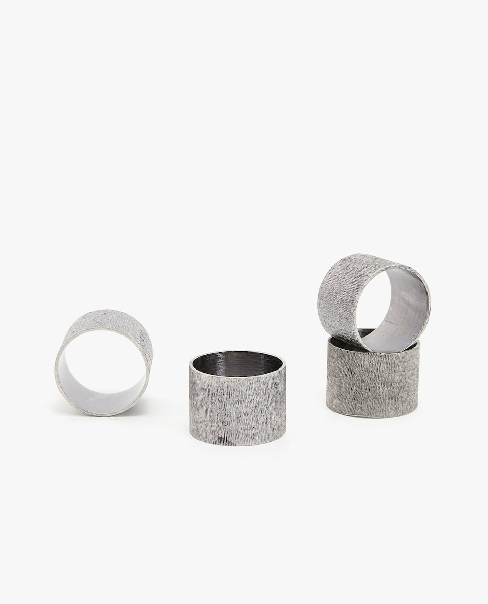 TEXTURED NAPKIN RING (PACK OF 4)