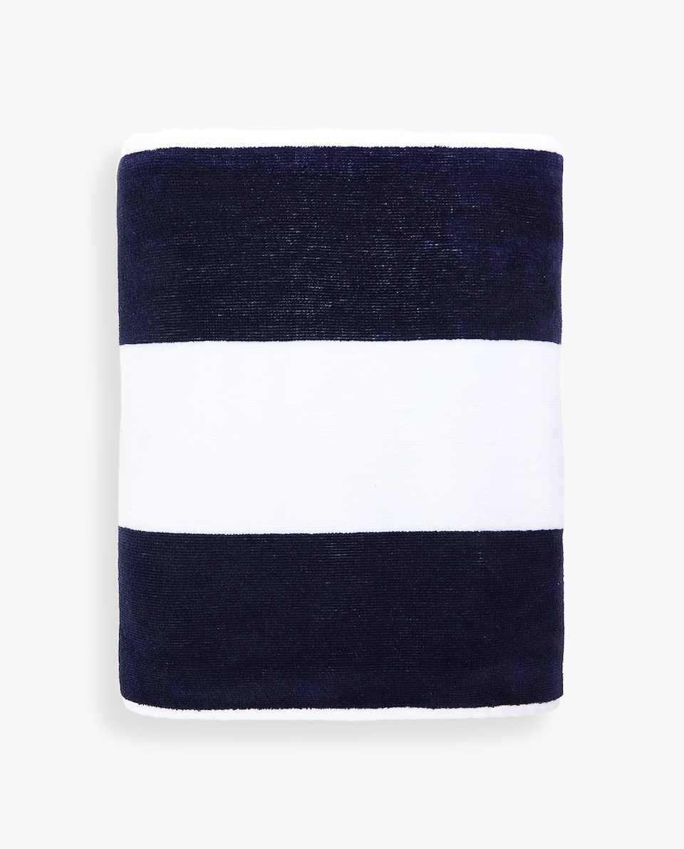 COTTON TOWEL WITH TWO-TONE LINES