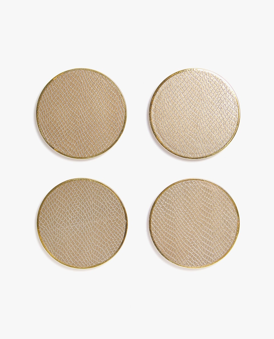 SNAKESKIN EFFECT COASTER (PACK OF 4)