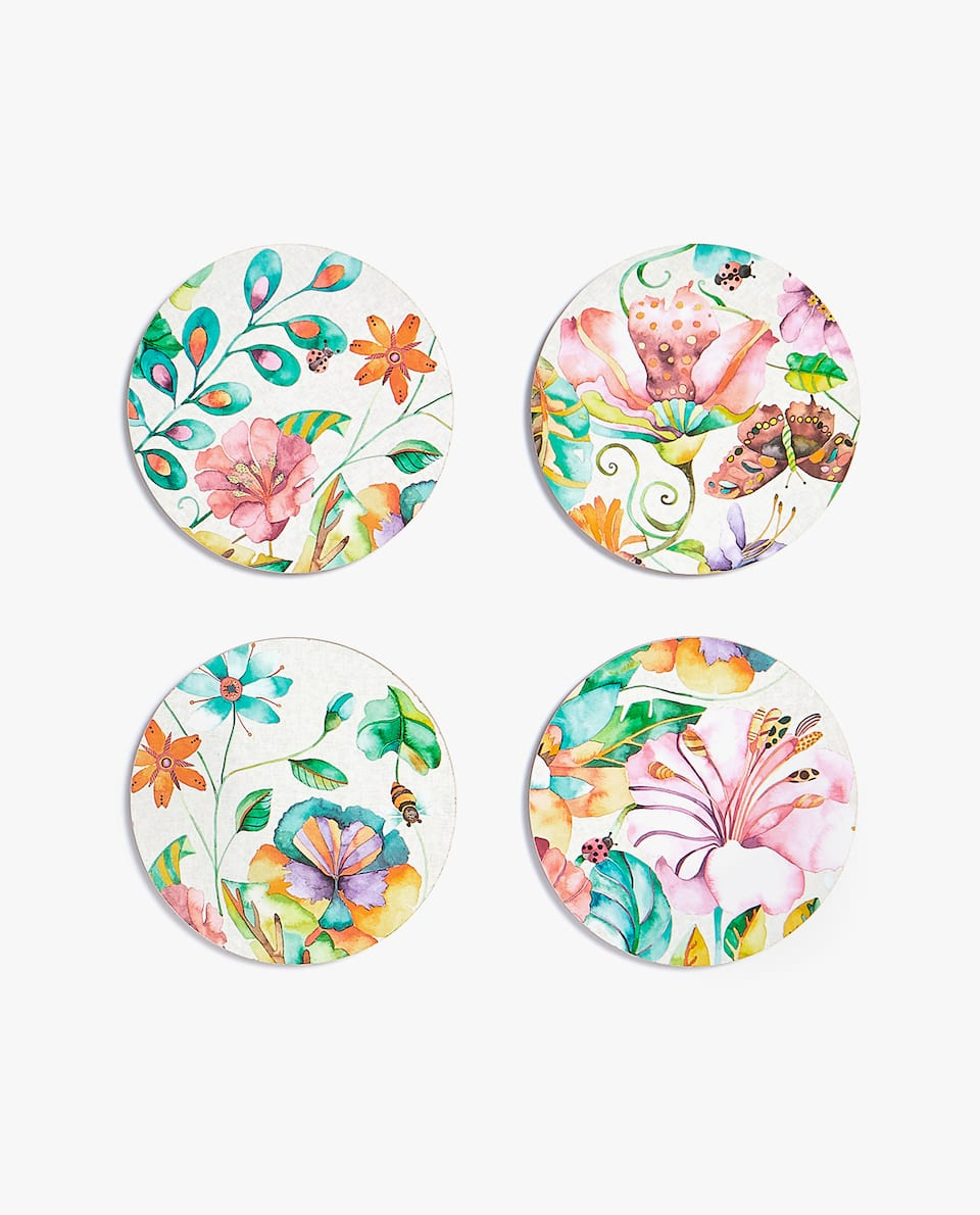 FLORAL COASTER (PACK OF 4)