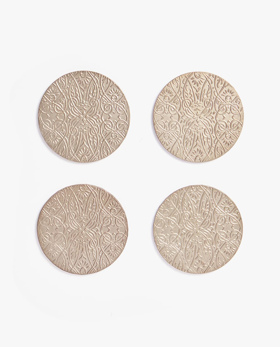 DECORATIVE ENGRAVED COASTER (PACK OF 4)