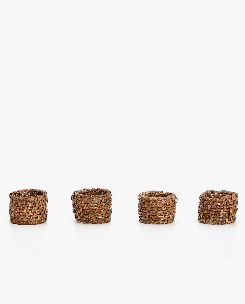 RATTAN NAPKIN RING (PACK OF 4)