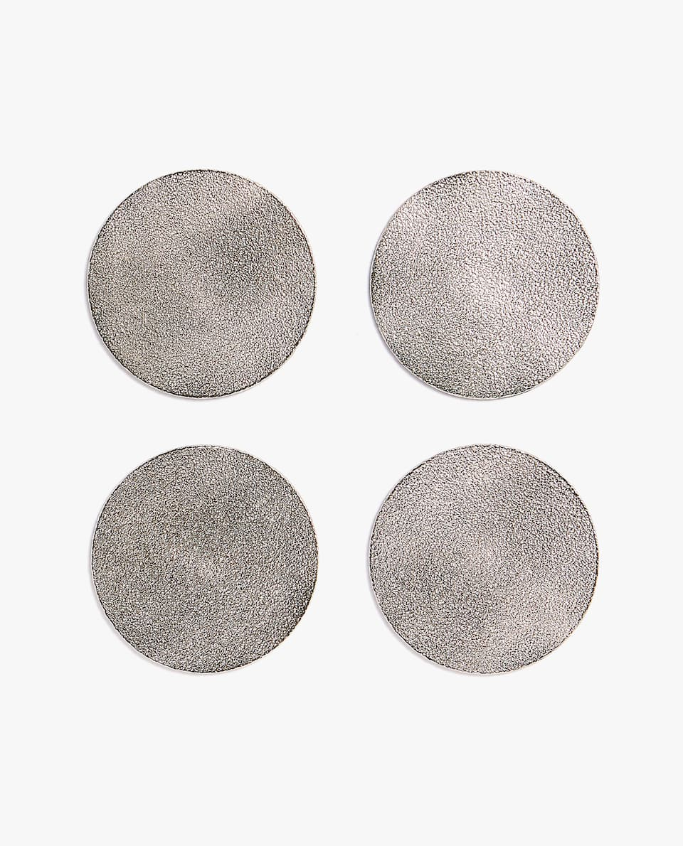 TEXTURED METAL COASTER (PACK OF 4)