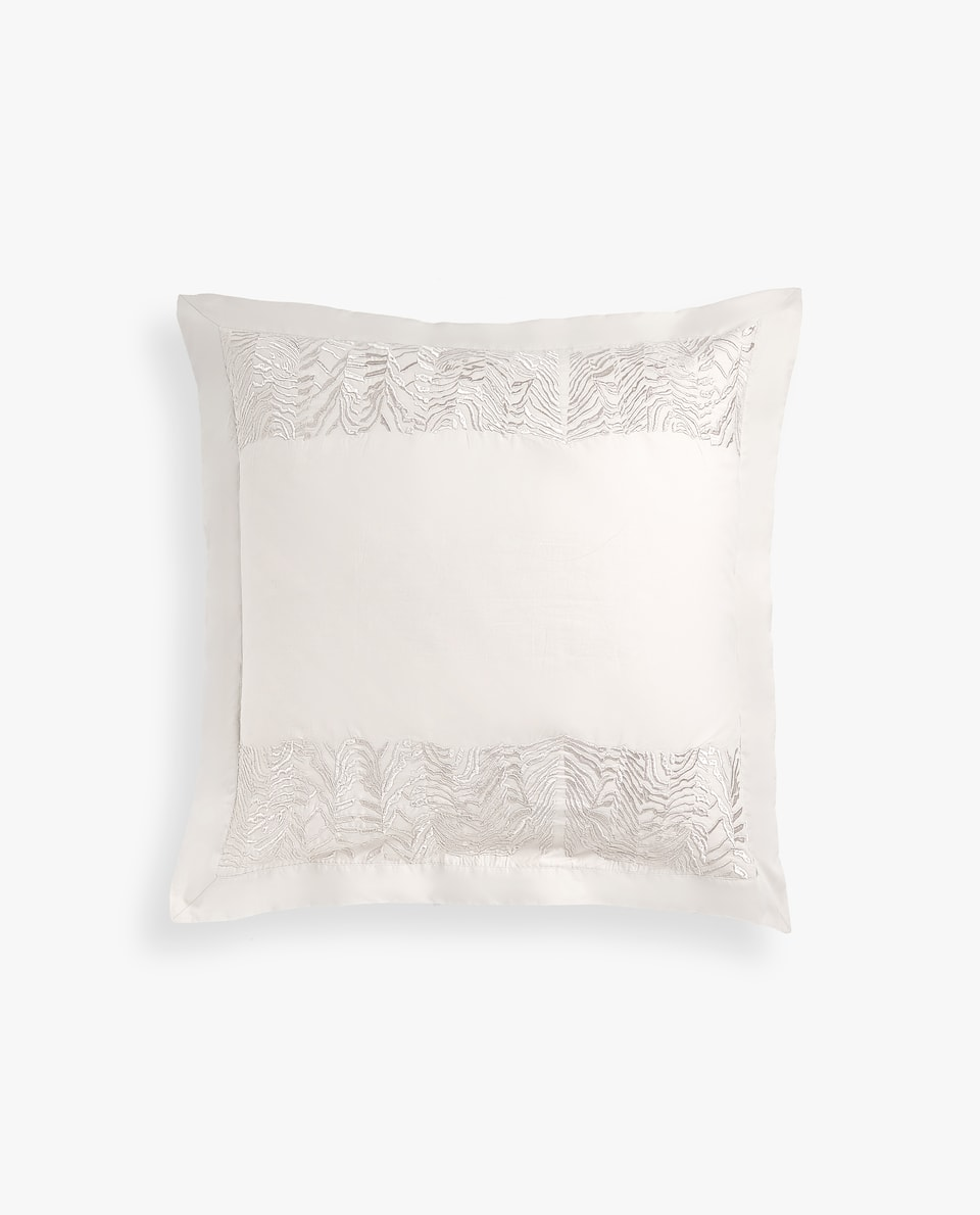ZEBRA-EFFECT EMBROIDERY PILLOW CASE