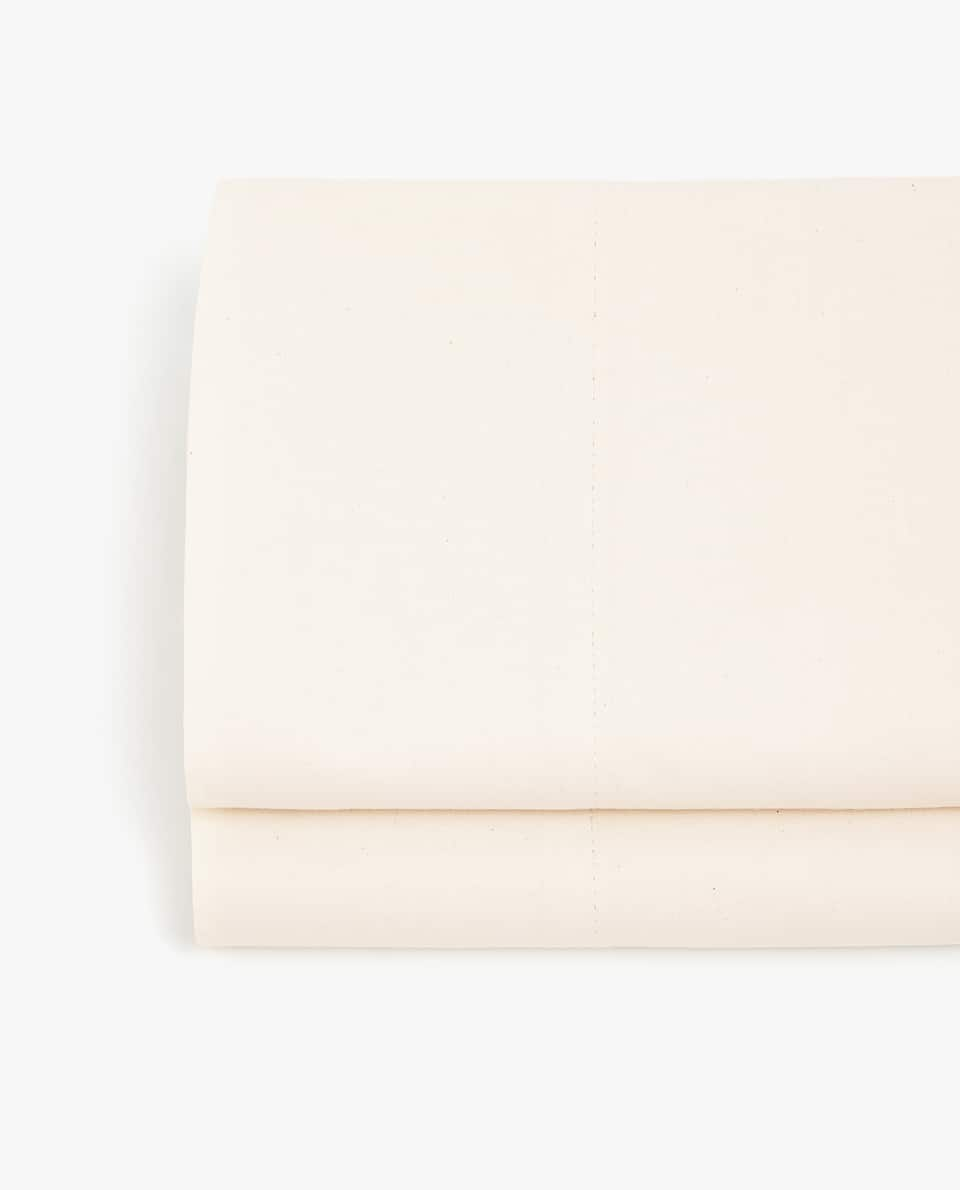 ECRU COTTON FLAT SHEET