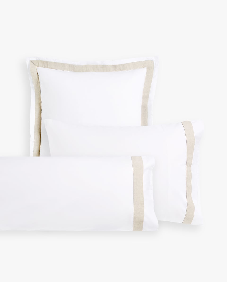 PILLOWCASE WITH CONTRAST BORDER