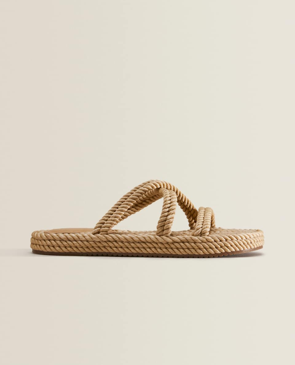 BRAIDED YARN SANDALS