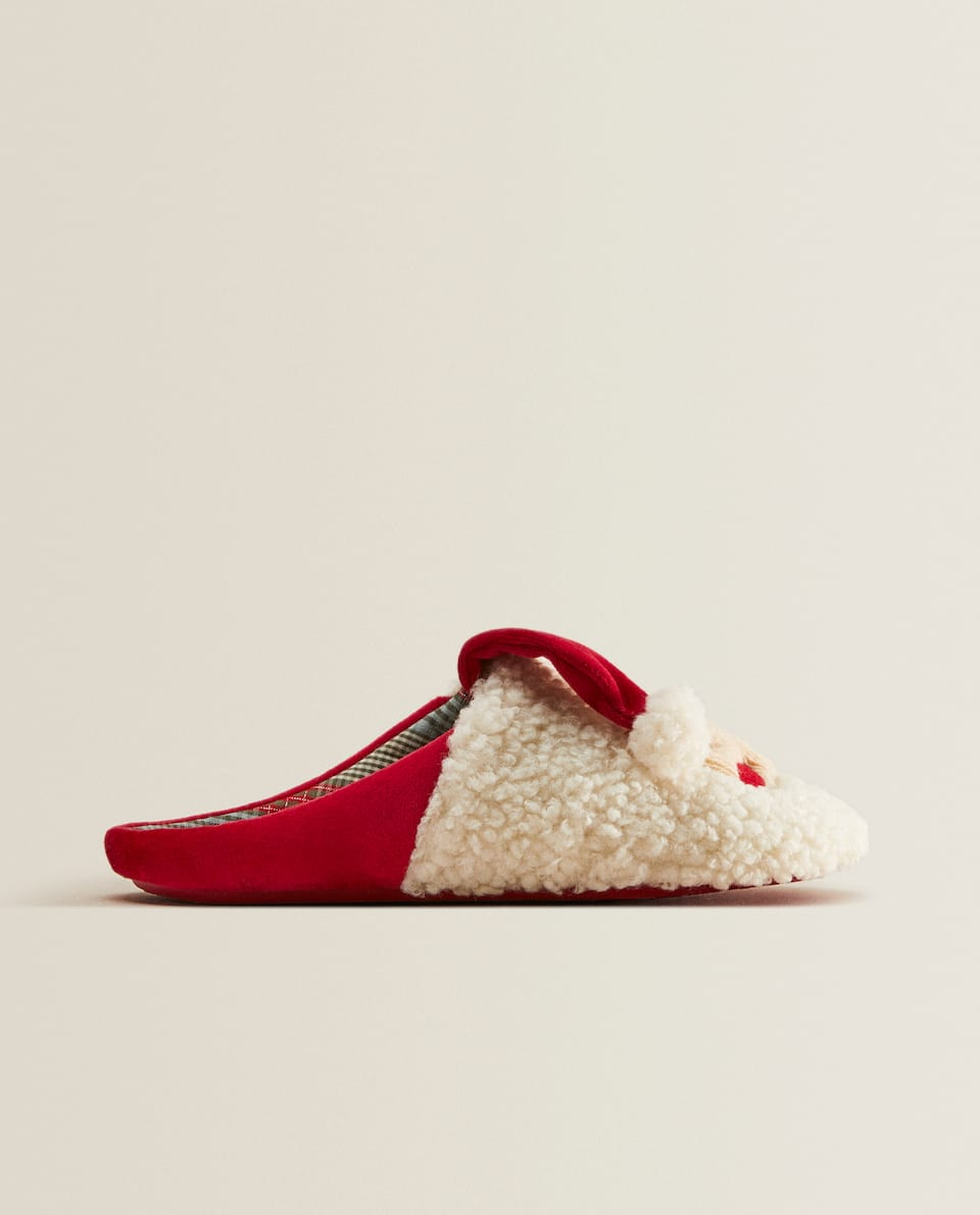 Backless Santa Claus slippers