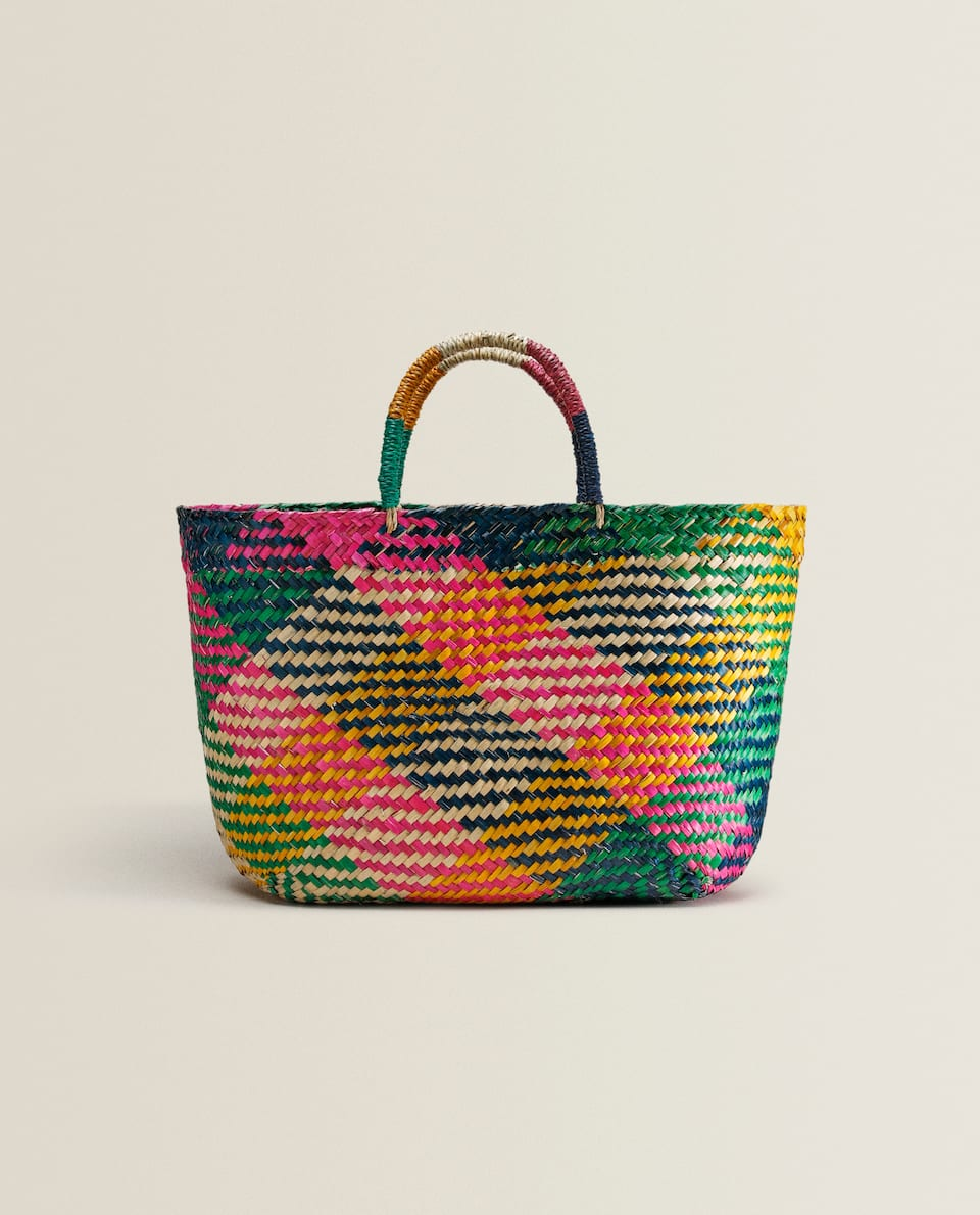 Multicoloured tote bag