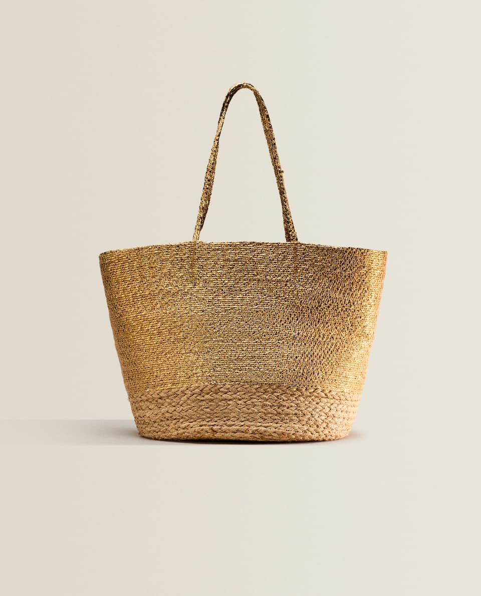 GOLD CONTRAST TOTE BAG