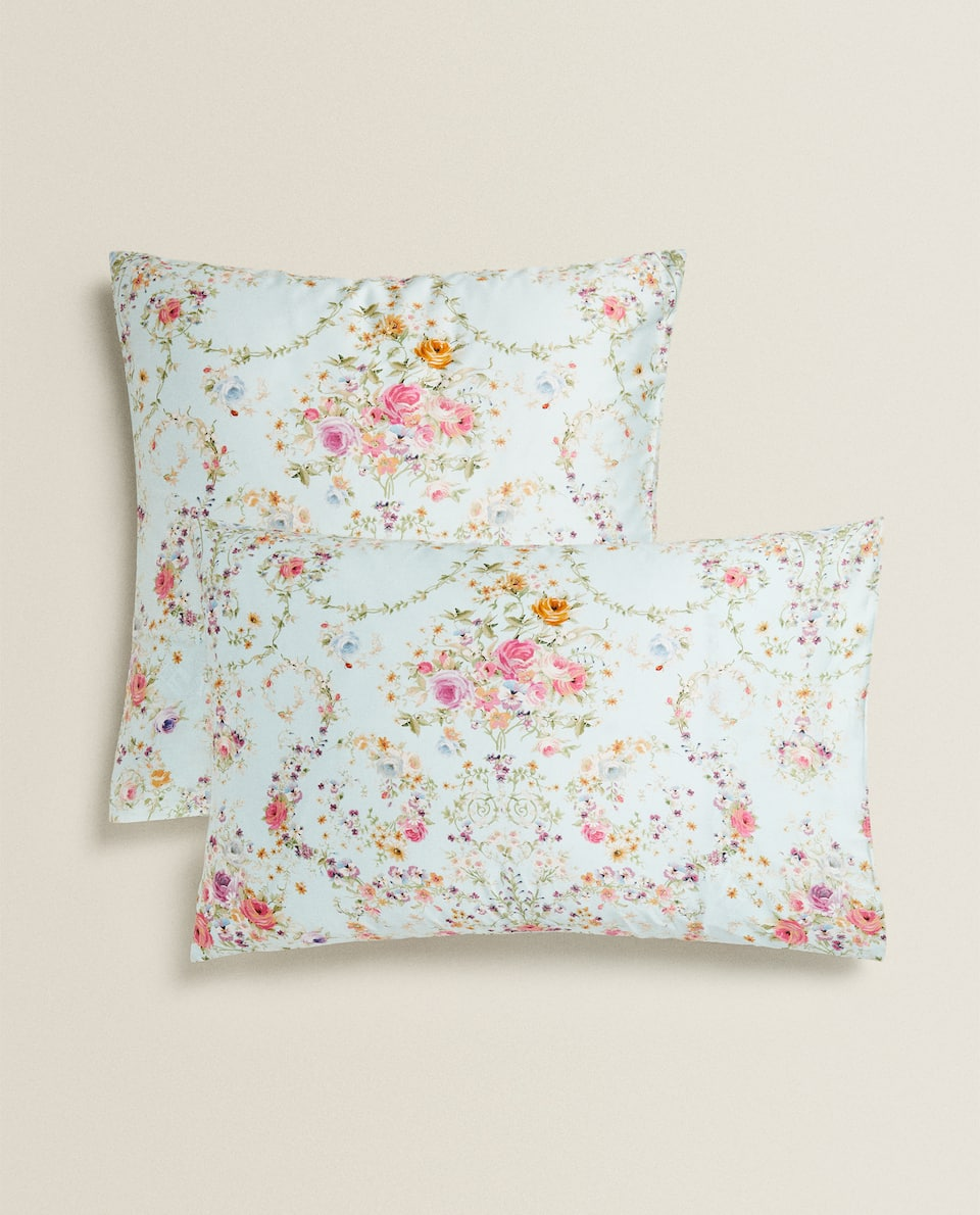 ROSE SATEEN PILLOWCASE