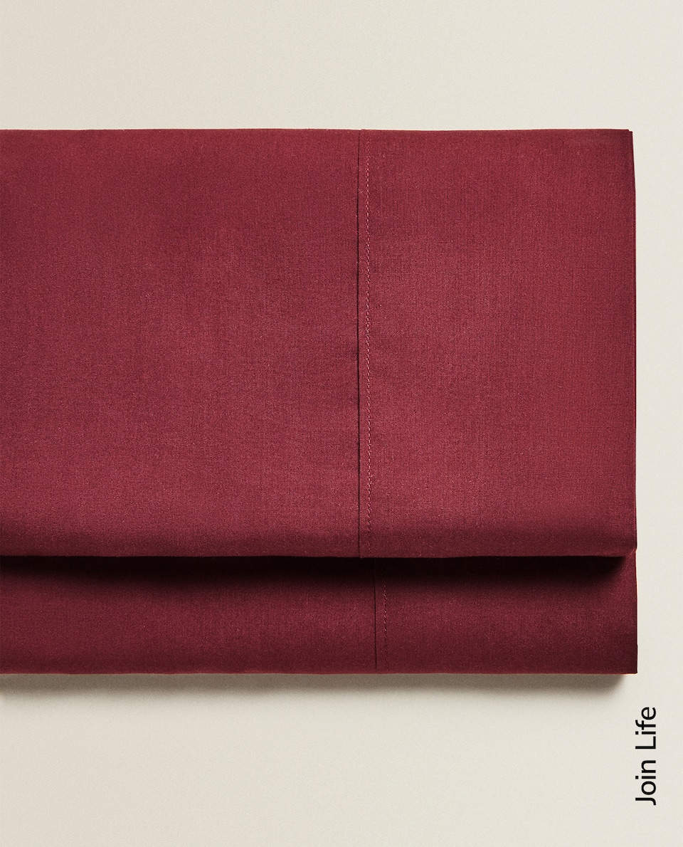 ECOLOGICALLY-GROWN COTTON PERCALE FLAT SHEET