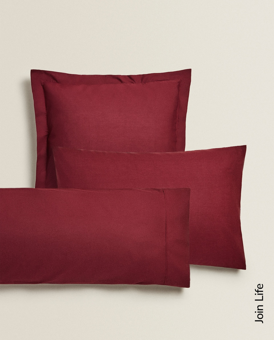 ECOLOGICALLY-GROWN COTTON PERCALE PILLOWCASE