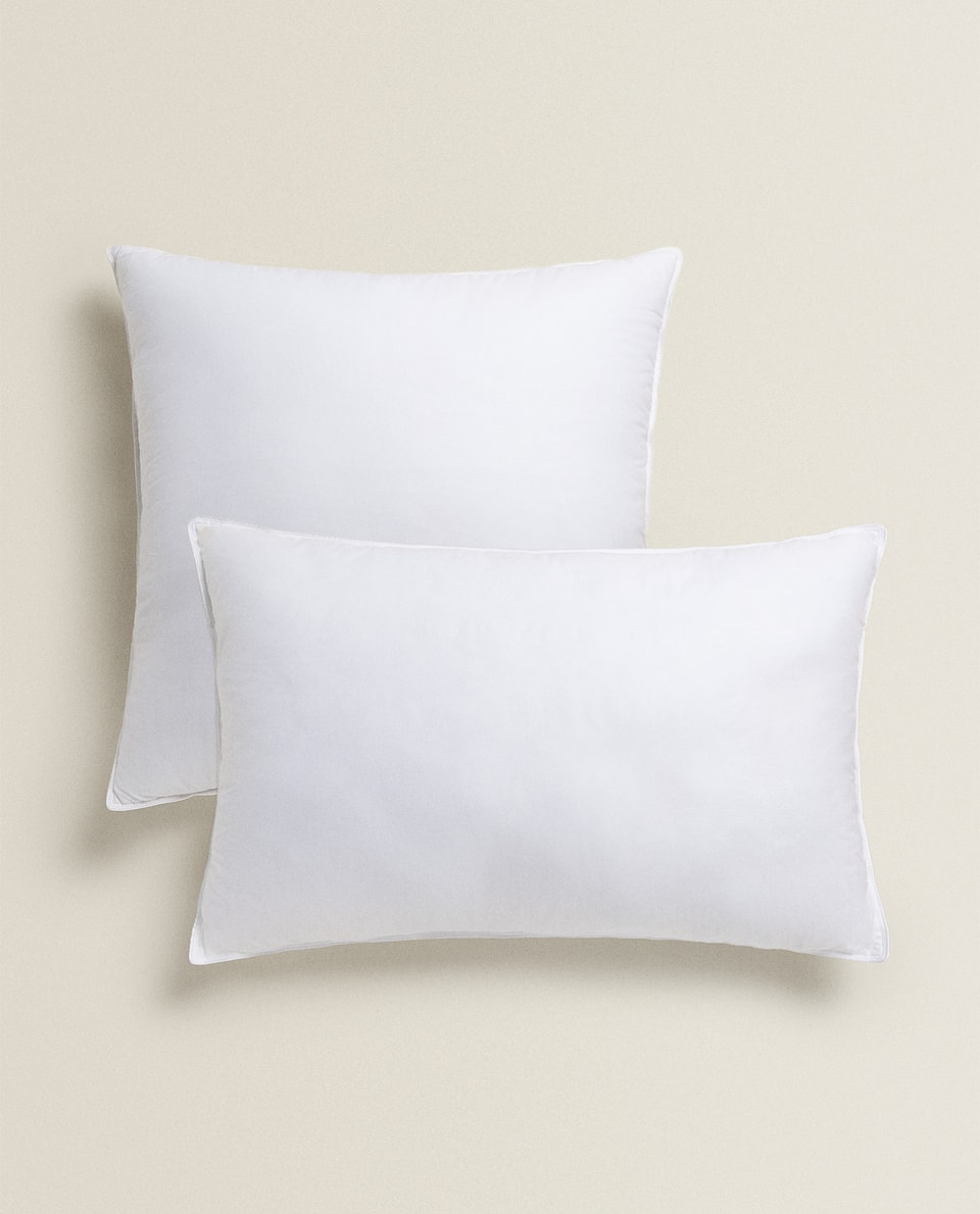 FEATHER AND MICROFIBRE PILLOWCASE