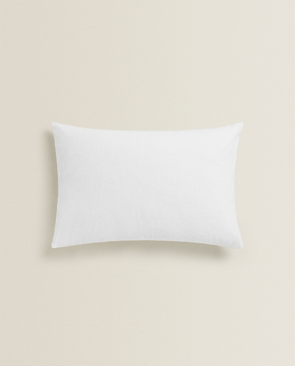 WATERPROOF COTTON TERRY PILLOW PROTECTOR