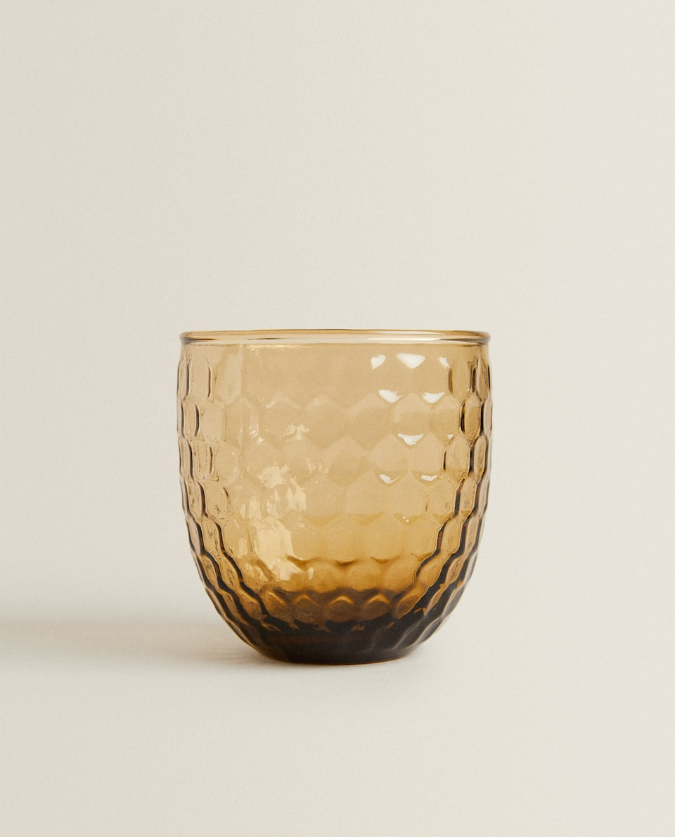 RAISED BEEHIVE DESIGN TUMBLER