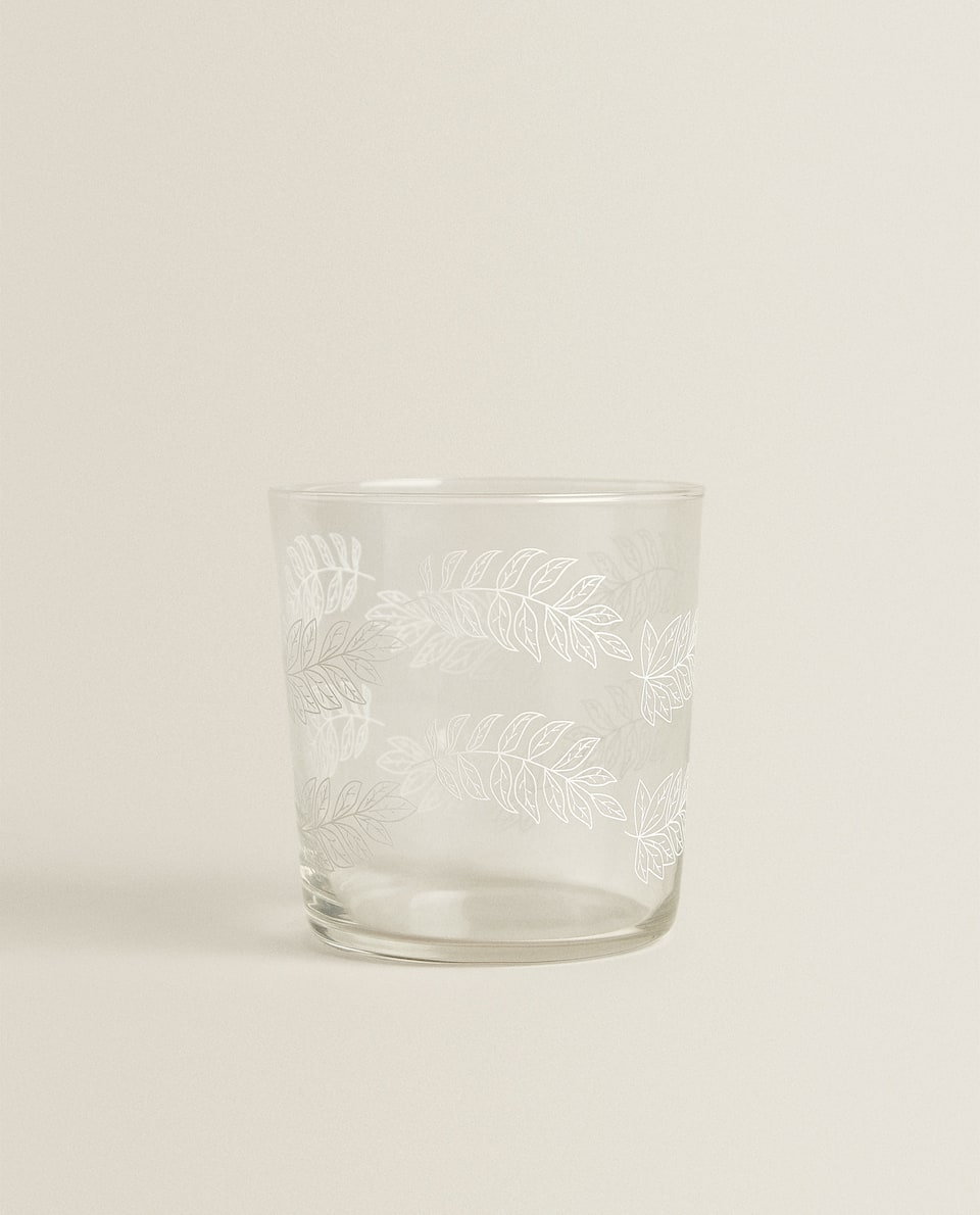 LEAF SILK SCREEN TUMBLER