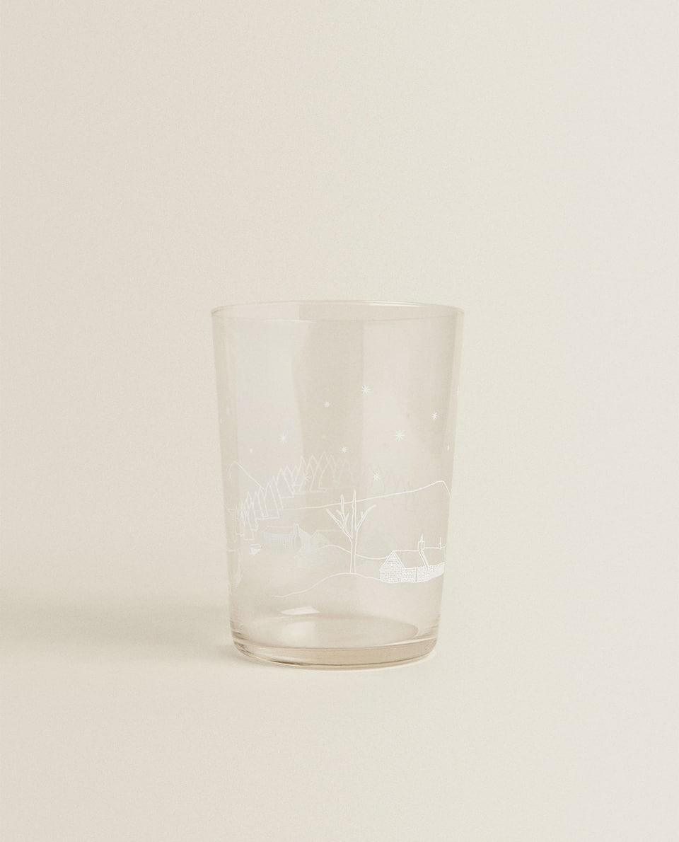SOFT DRINK TUMBLER WITH CHRISTMAS TRANSFER