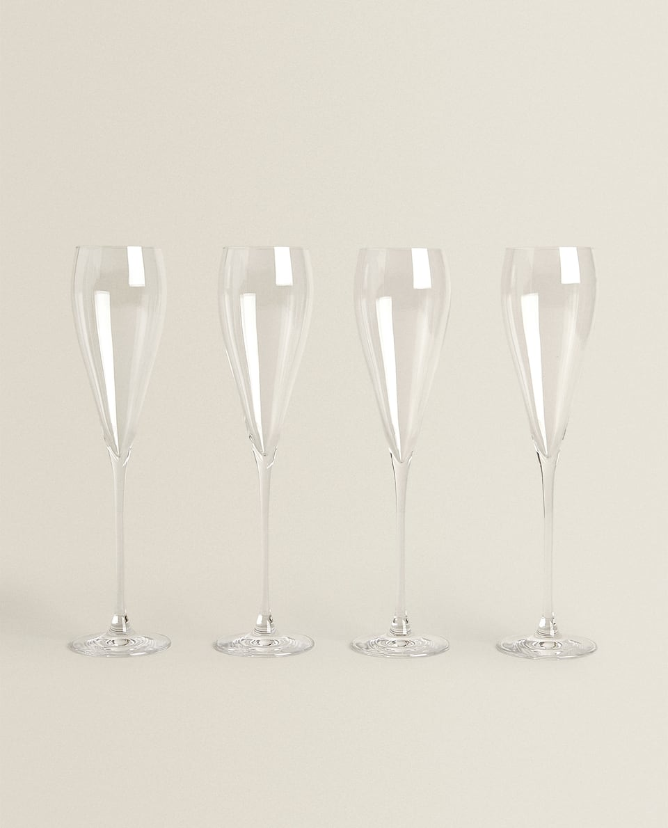 CRYSTALLINE FLUTE GLASS (PACK OF 4)